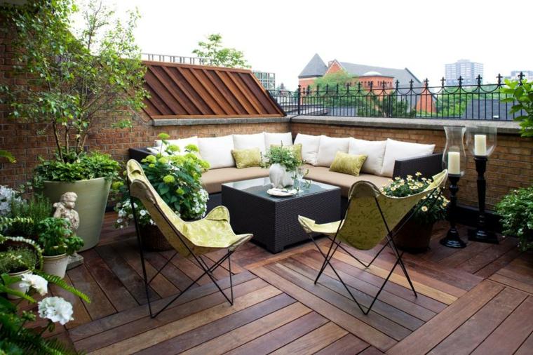 decoracin para terrazas pequeas - Terrazas Decoracion
