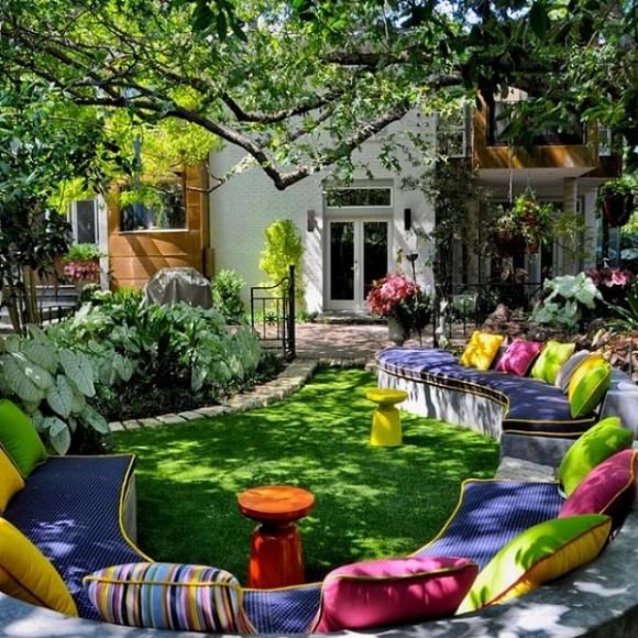 decoracin para jardines y terrazas con mucho color - Decoracion De Jardines Y Terrazas